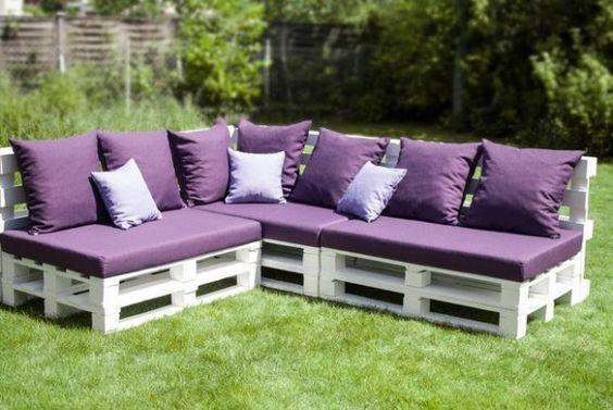 mobilier de jardin en palette en bois