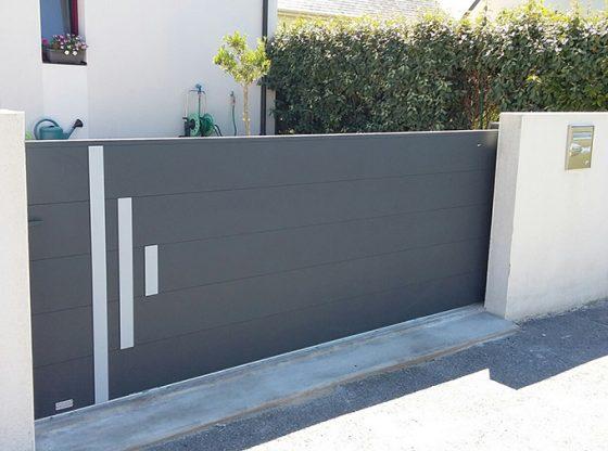 Choisir un portail en aluminium moderne pour sa maison contemporaine - Portail de maison ...